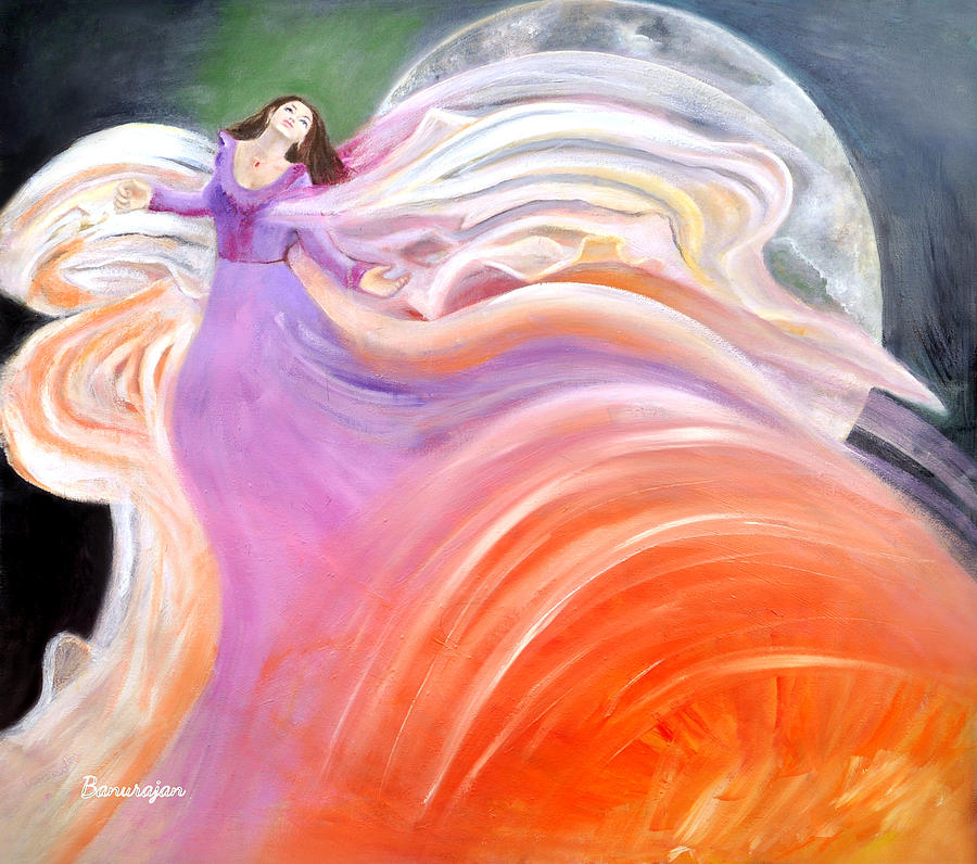 Oil Painting Painting - Out Of This World by Banus Art work