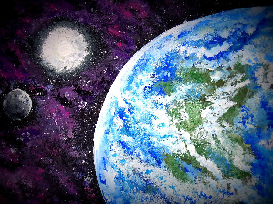 Outer Space Painting - Out Of This World by Daniel Nadeau