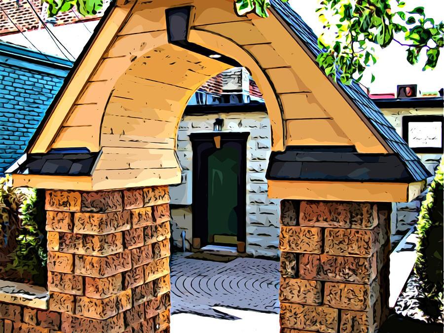 Mj Olsen Photograph - Out The Back Door by MJ Olsen
