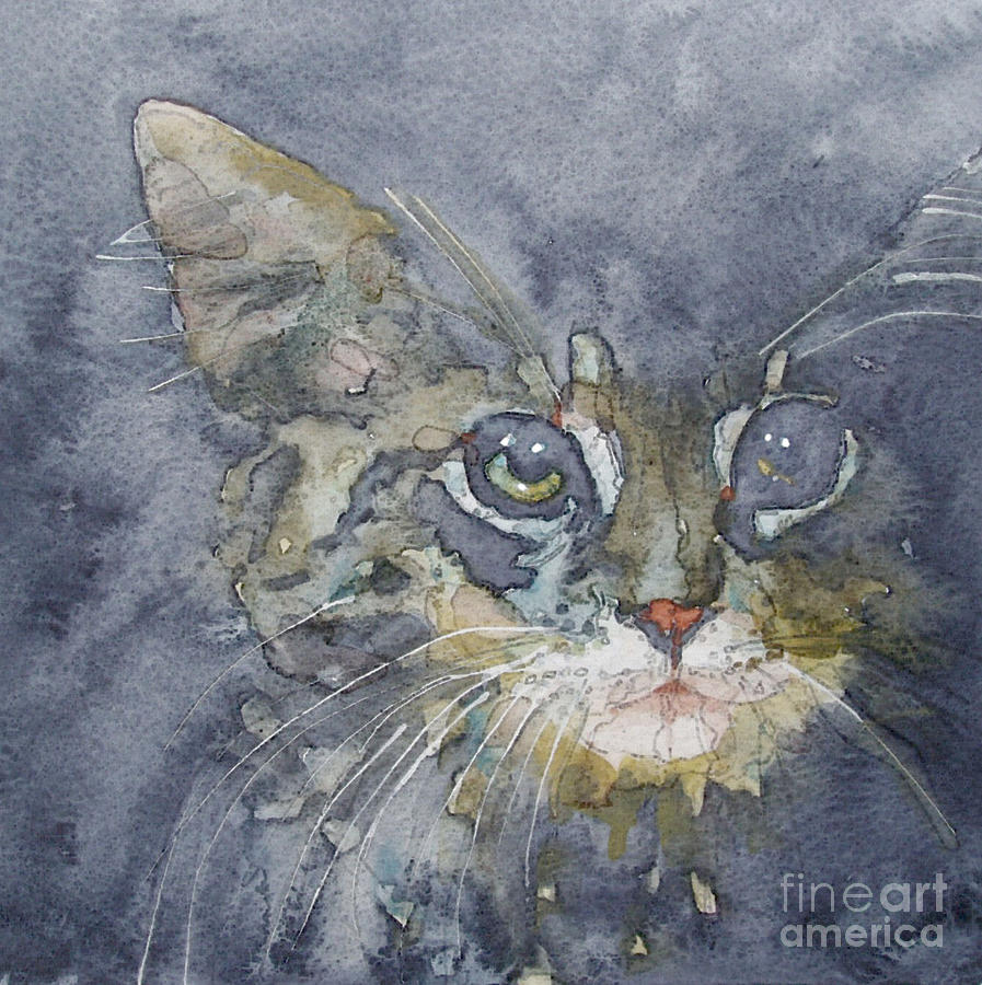 Tabby Painting - Out The Blue You Came To Me by Paul Lovering