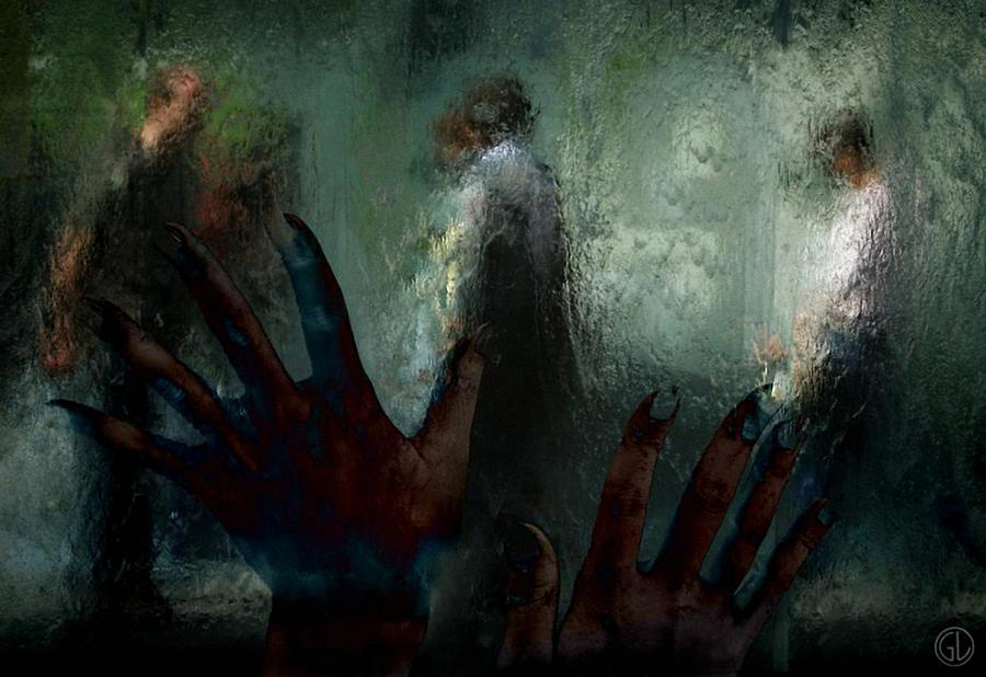 Window Digital Art - Out There In Real Life by Gun Legler