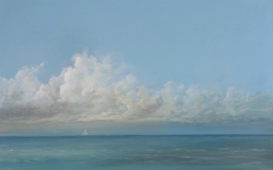 Seascape Painting - Out There by Peter Laughton