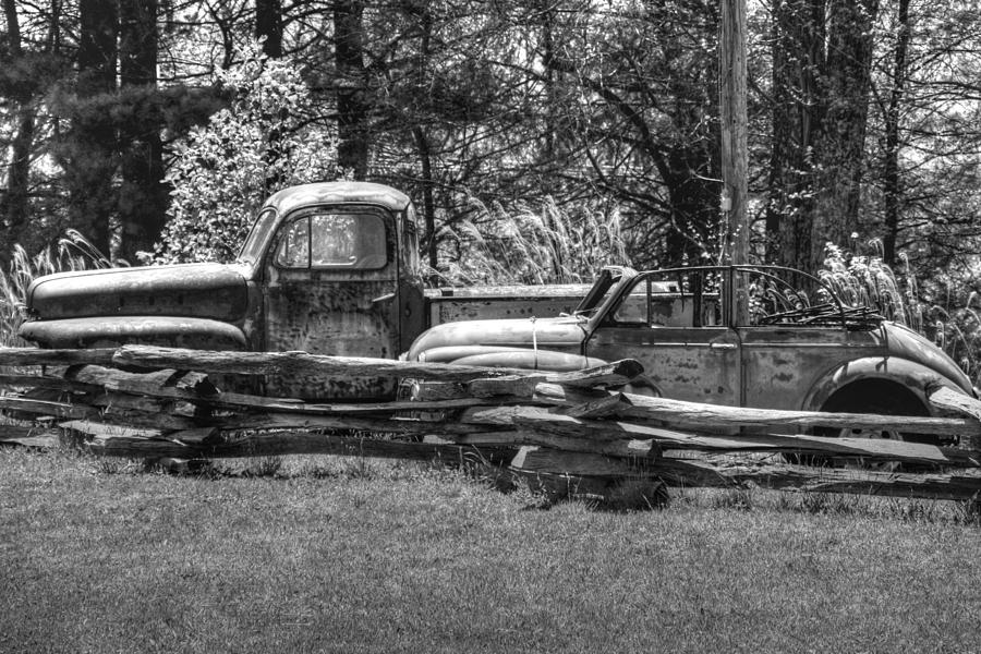 Car Photograph - Out To Pasture by Michael Allen