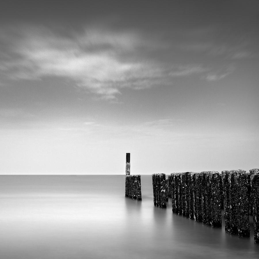 Groynes Photograph - Out To Sea by Dave Bowman