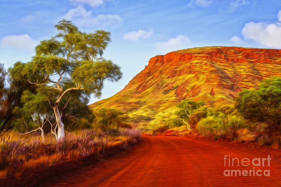 Australia Photograph - Outback Road Australia by Colin and Linda McKie