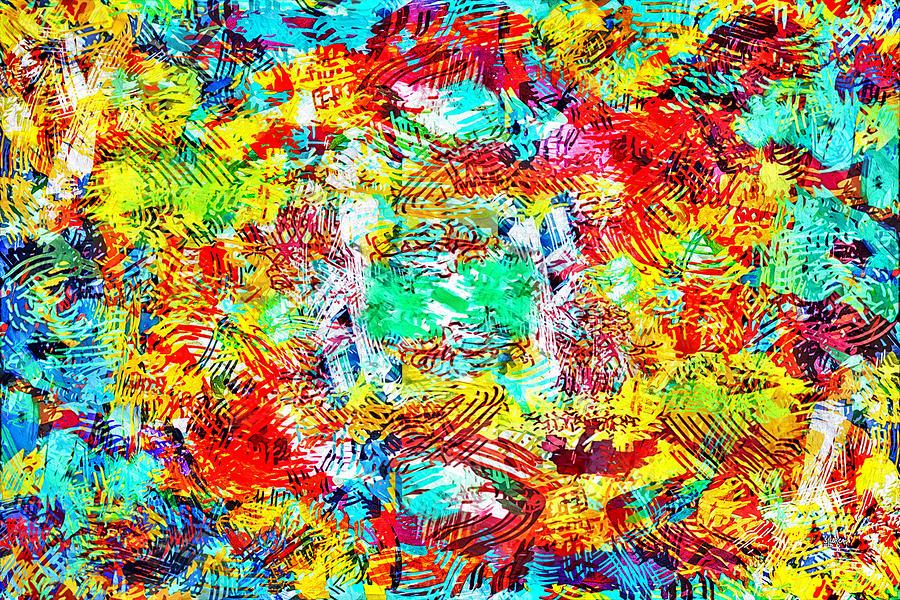 Abstract Digital Art - Outburst by Steven Llorca