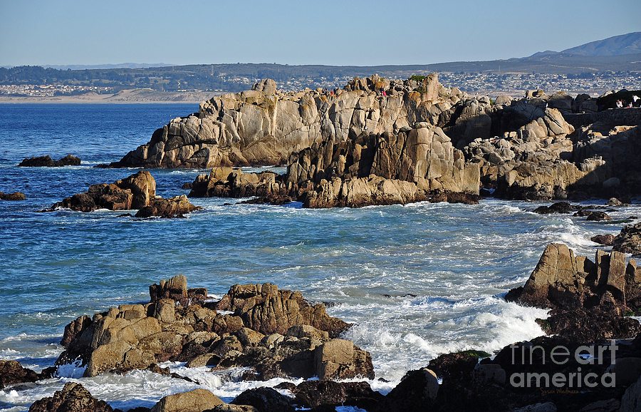 Susan Wiedmann Photograph - Outcroppings At Monterey Bay by Susan Wiedmann