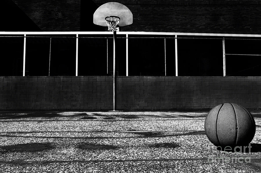 Outdoor Basketball Court Photograph by Danny Hooks