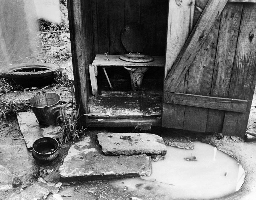 1935 Photograph - Outdoor Toilet, 1935 by Granger