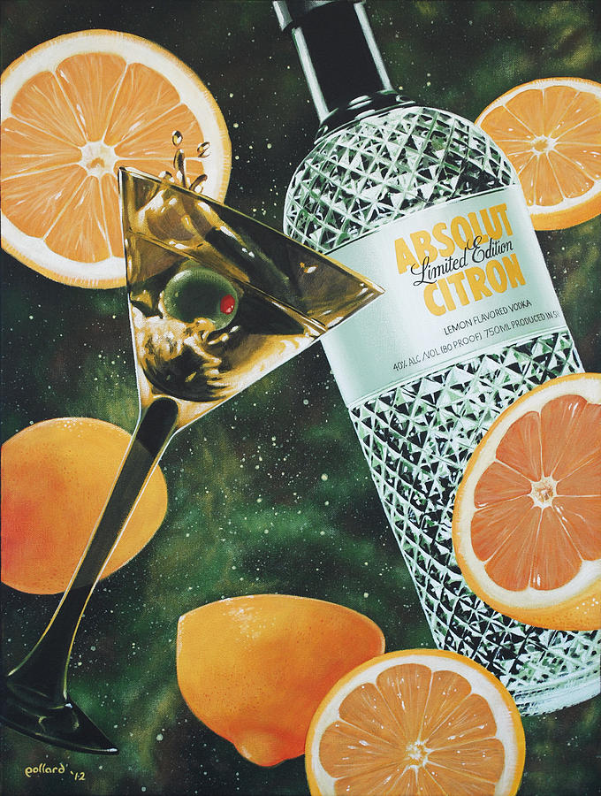Vodka Painting - Outer Citron by Glenn Pollard
