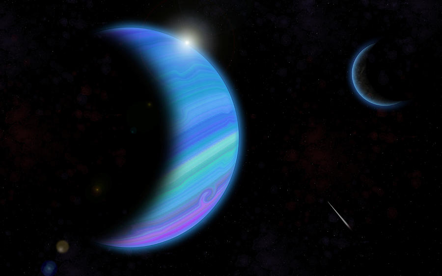 Outer Space Painting - Outer Space Dance Digital Painting by Georgeta Blanaru