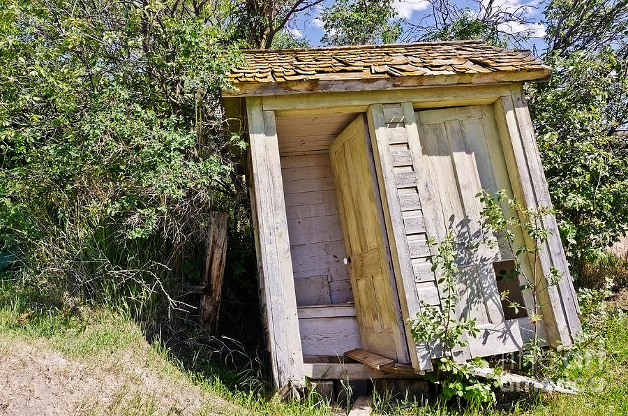 Outhouses Photograph - Outhouse For Two by Sue Smith