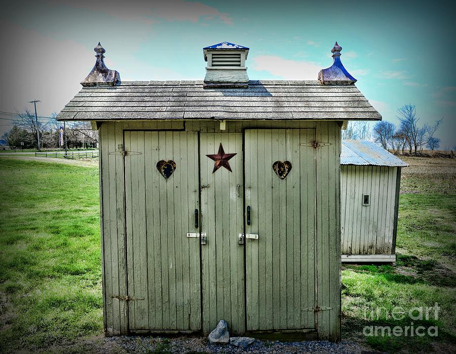Outhouse Photograph - Outhouse - His And Hers by Paul Ward