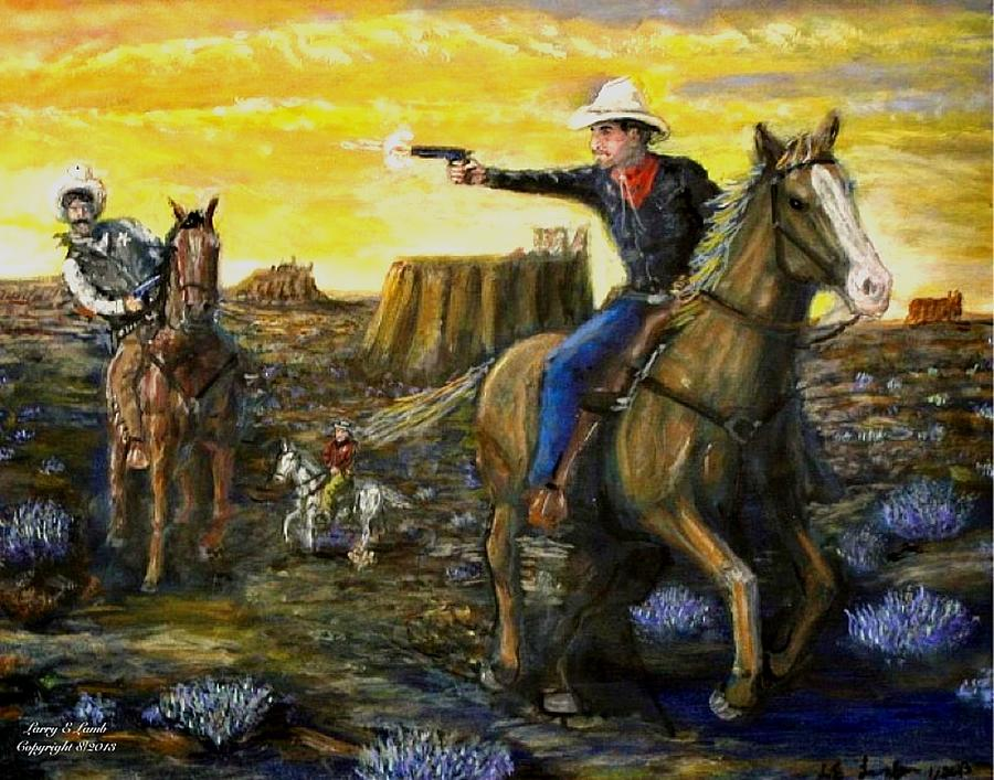 Artwork Painting - Outlaw Trail by Larry E Lamb