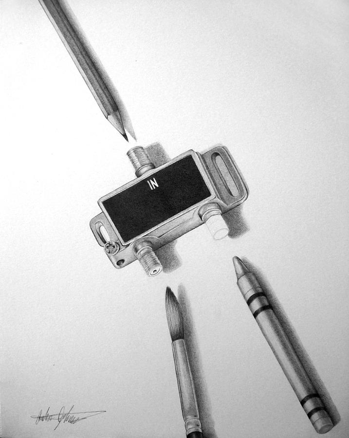 Drawing Drawing - Outlet by Anthony Johnson