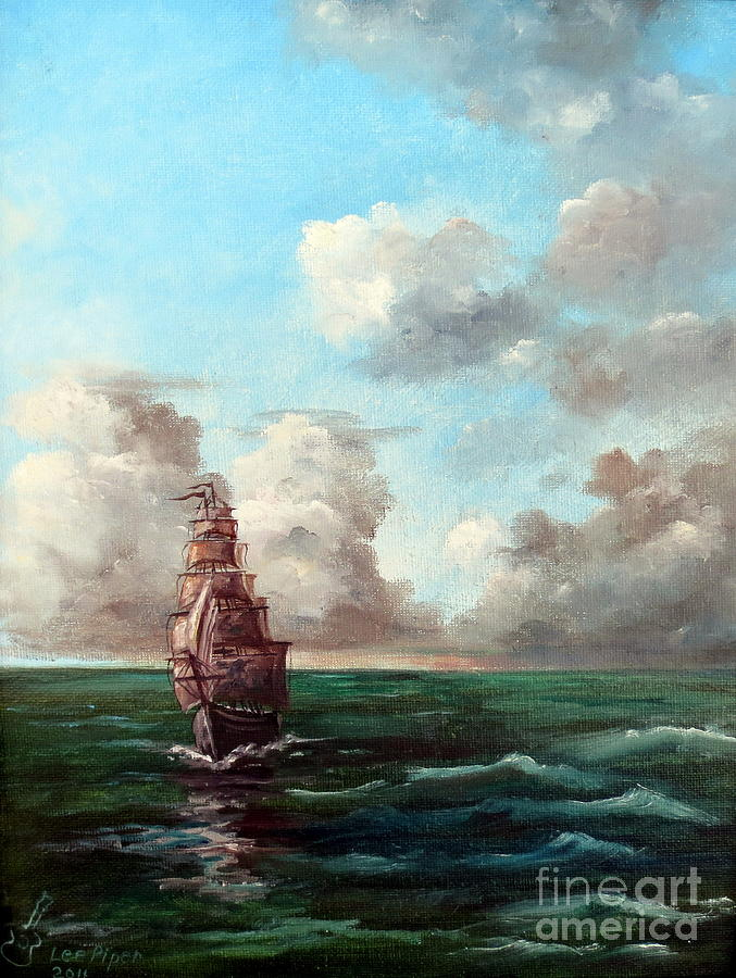 Painting Painting - Outrunning The Storm by Lee Piper