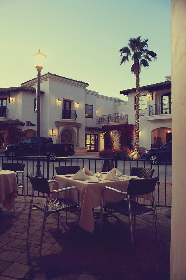 La Quinta Photograph - Outside Dining by Laurie Search