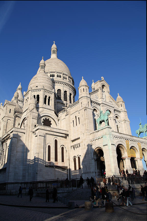 And Photograph - Outside The Basilica Of The Sacred Heart Of Paris - Sacre Coeur - Paris France - 01134 by DC Photographer