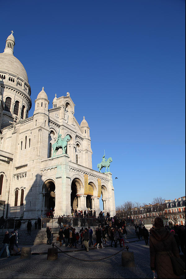 And Photograph - Outside The Basilica Of The Sacred Heart Of Paris - Sacre Coeur - Paris France - 01136 by DC Photographer