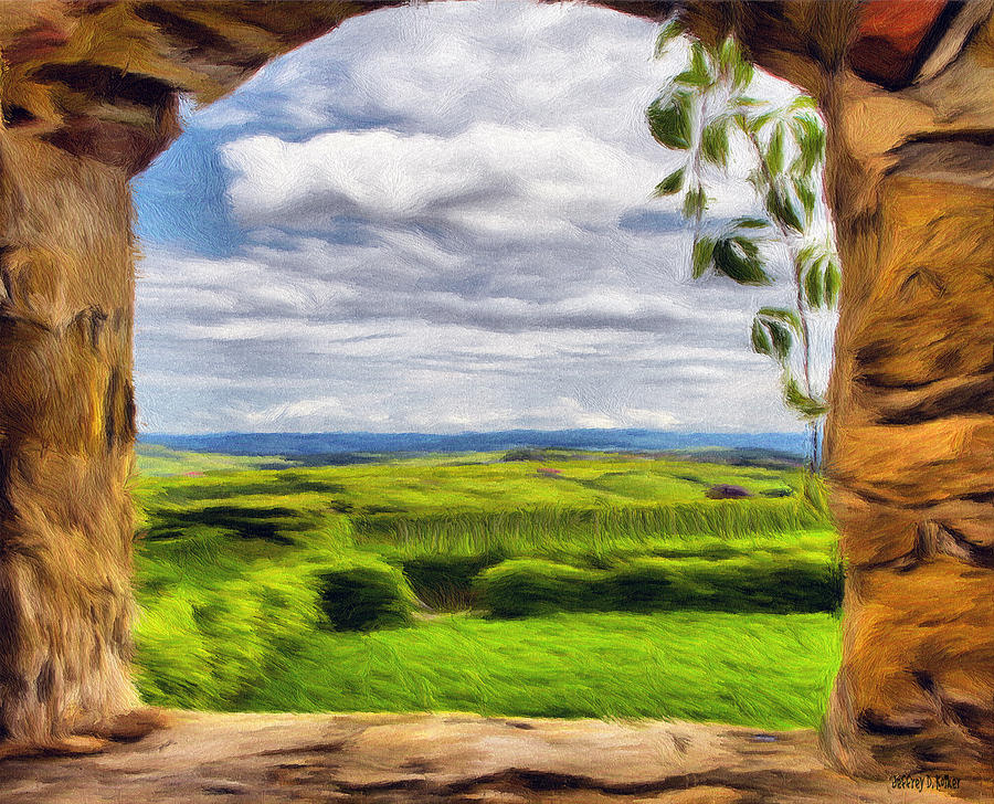 Europe Painting - Outside The Fortress Wall by Jeff Kolker