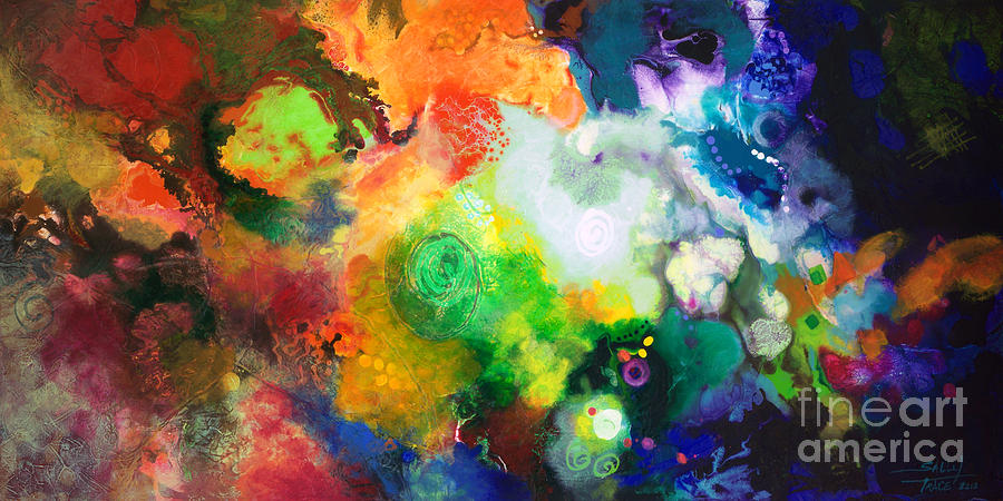 Abstract Painting - Outward Bound by Sally Trace