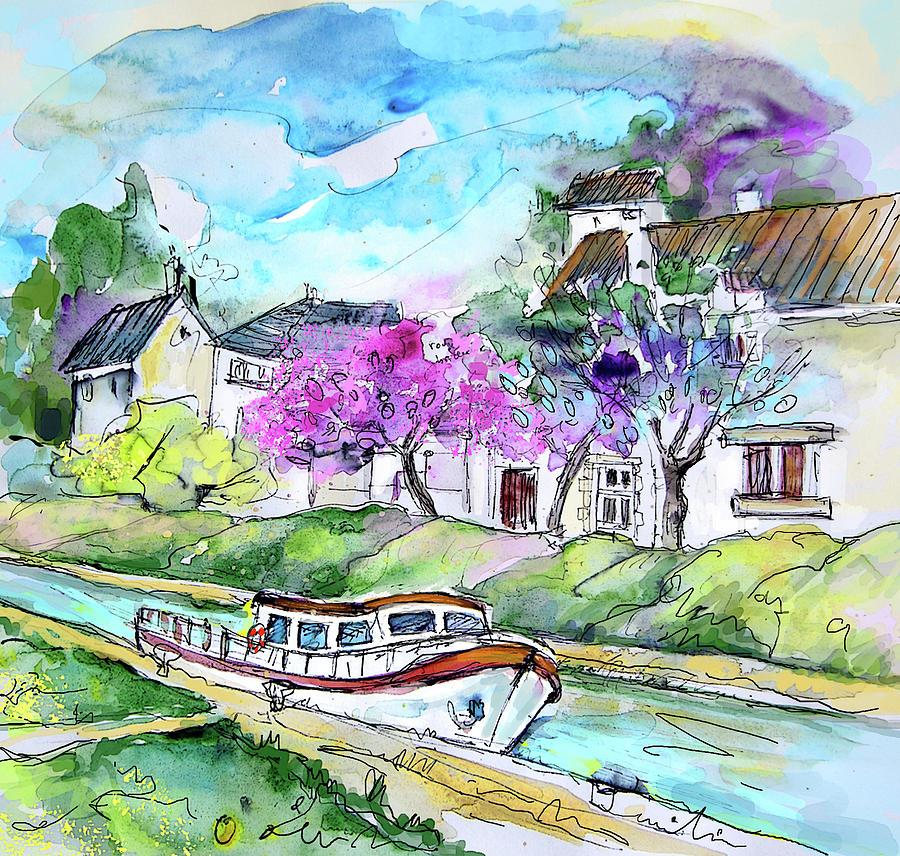 Ouzouer Sur Trezee In France 01 Painting