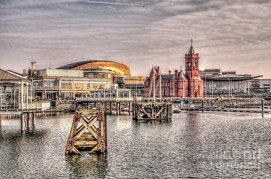 Over Cardiff Bay Photograph