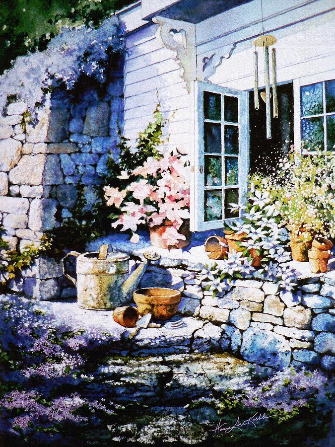 Over Sleepy Garden Walls Painting - Over Sleepy Garden Walls by Hanne Lore Koehler