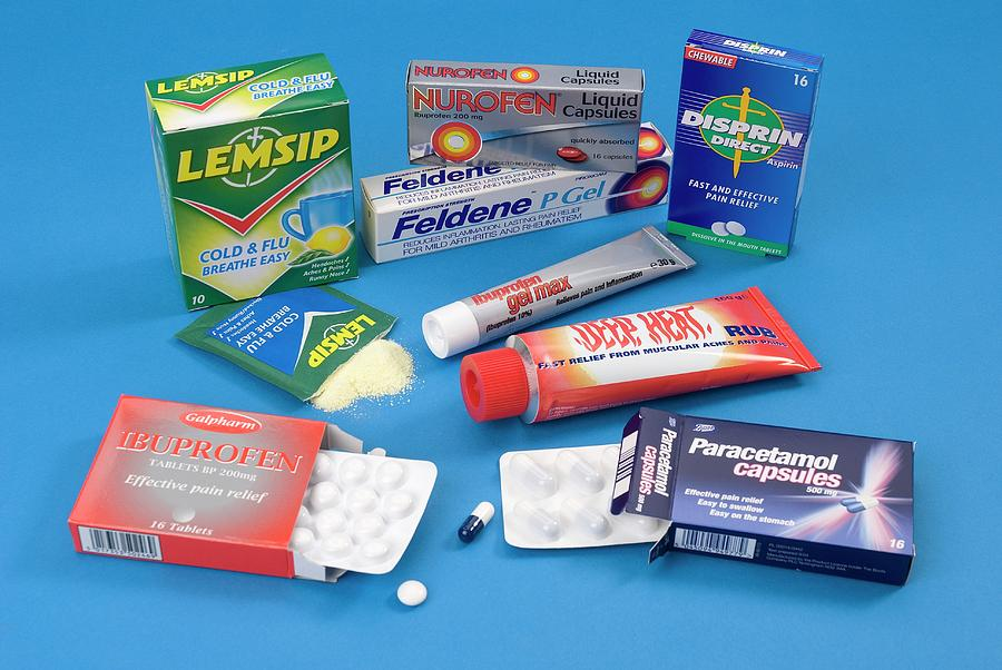 Analgesics Photograph - Over-the-counter Analgesics by Trevor Clifford Photography