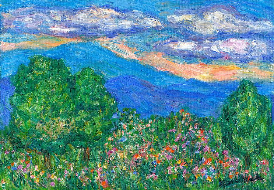 Wildflowers Painting - Over The Edge by Kendall Kessler