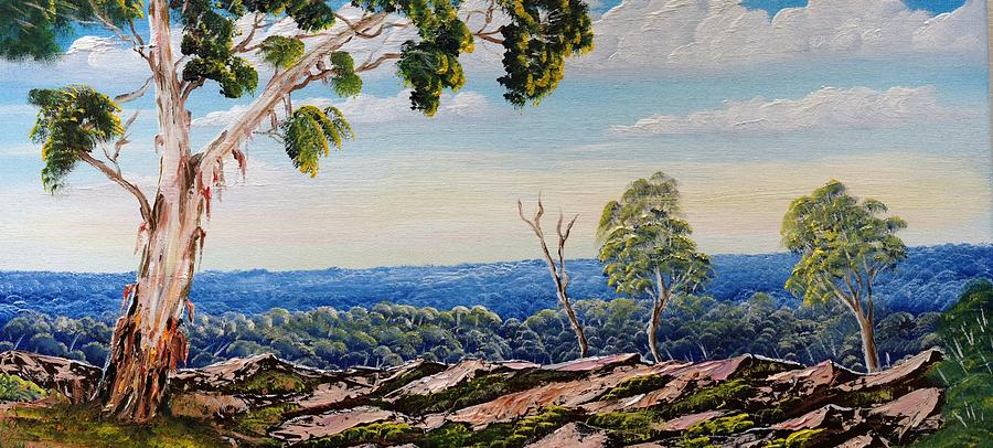 Rocks Painting - Over The Hill by David Belcastro