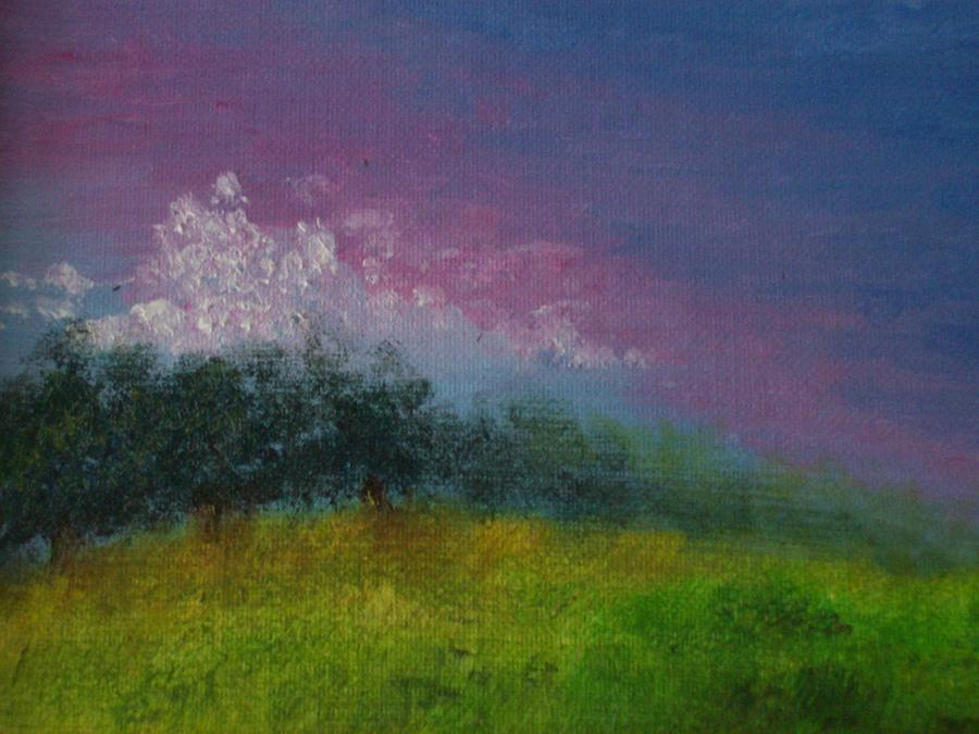 Sunset Painting - Over The Horizon by Margie Ridenour