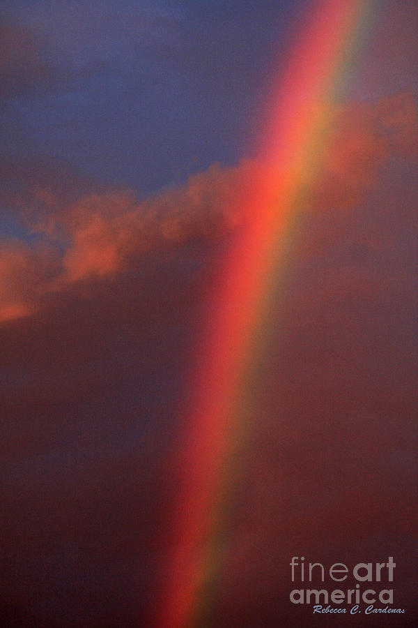 Clouds Photograph - Over The Rainbow And Beyond The Sky by Rebecca Christine Cardenas