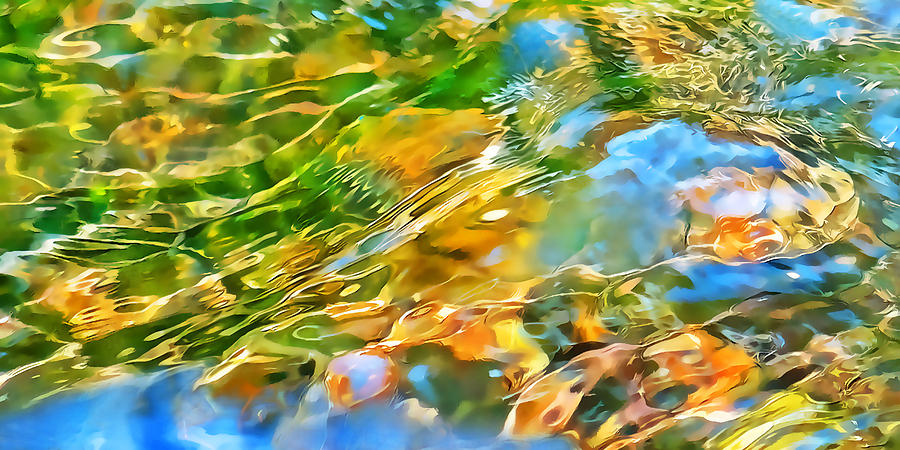 Refracted Light Photograph - Over The Rocks by Terril Heilman
