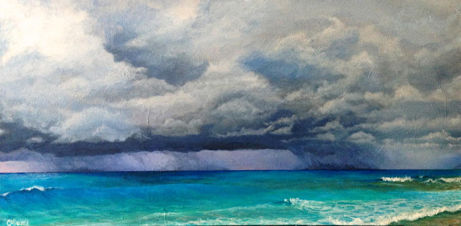 Landscape Painting - Over The Water by Christine Deemer