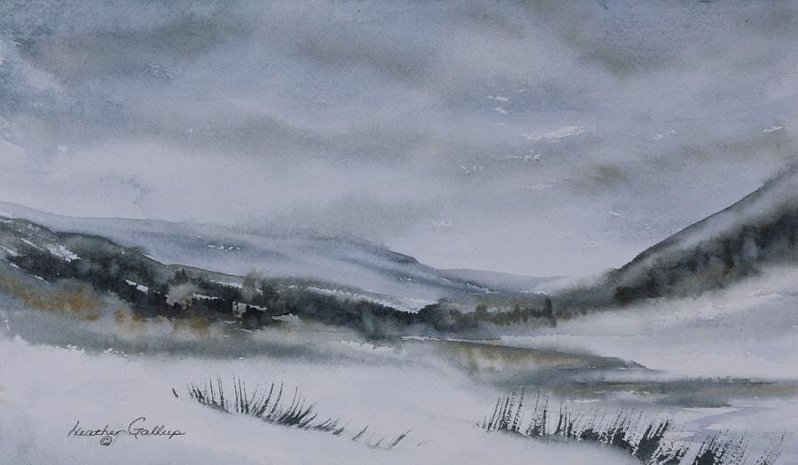 Canadian Landscape Painting - Overcast by Heather Gallup