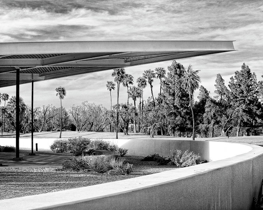 Palm Springs Photograph - Overhang Bw Palm Springs by William Dey
