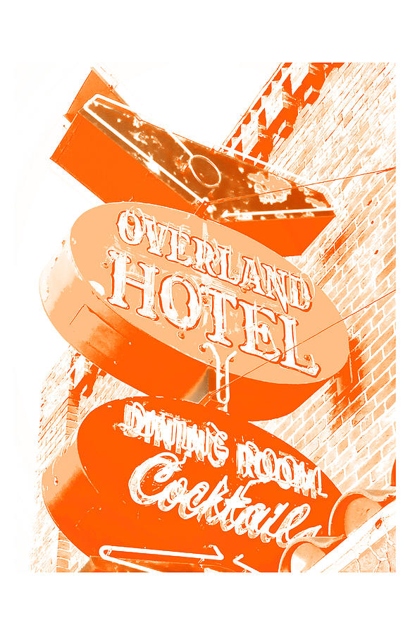 Vintage Photograph - Overland Hotel by Gail Lawnicki