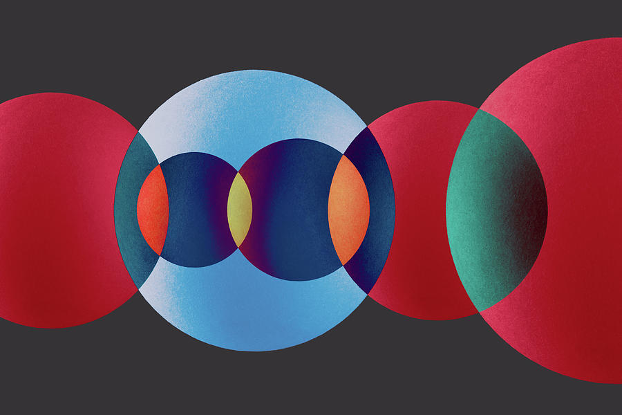 Overlapping Multi-colored Circles Photograph by Miragec