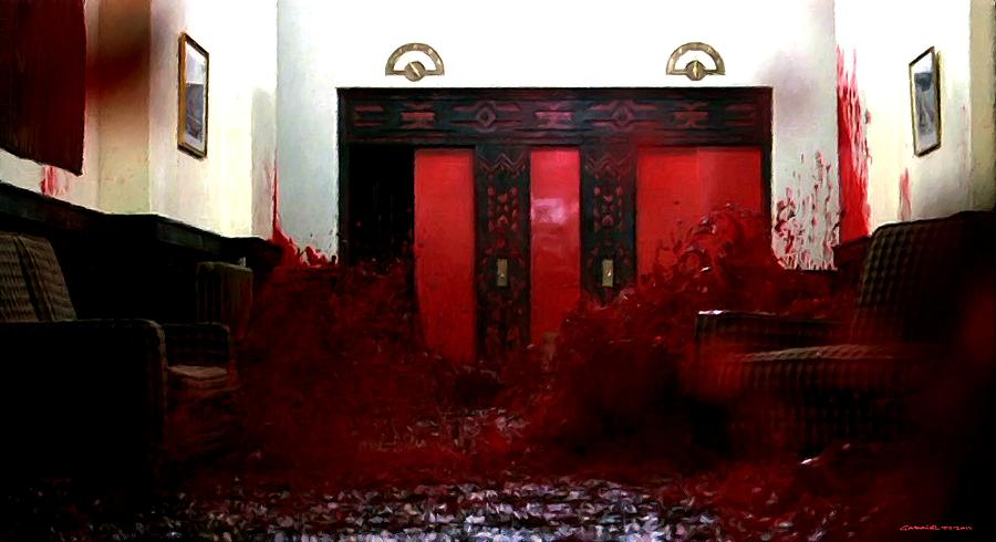 Blood Digital Art - Overlook Hotel in the film The Shining by Stanley Kubrick by Gabriel T Toro