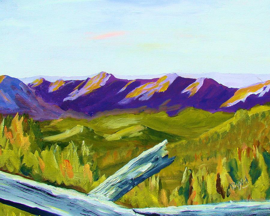 Smokey Painting - Overlook by Joe Byrd