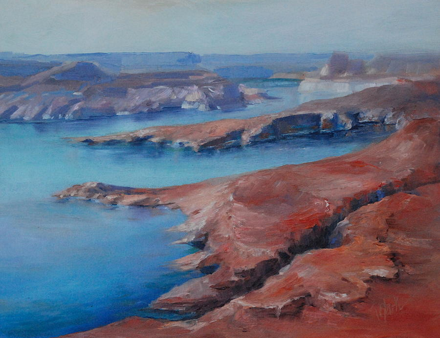 Lake Powell Painting - Overlooking Lake Powell by Donna Pierce-Clark