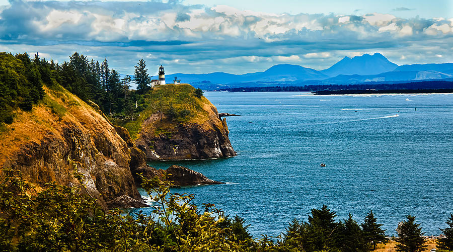 Lighthouse Photograph - Overlooking by Robert Bales