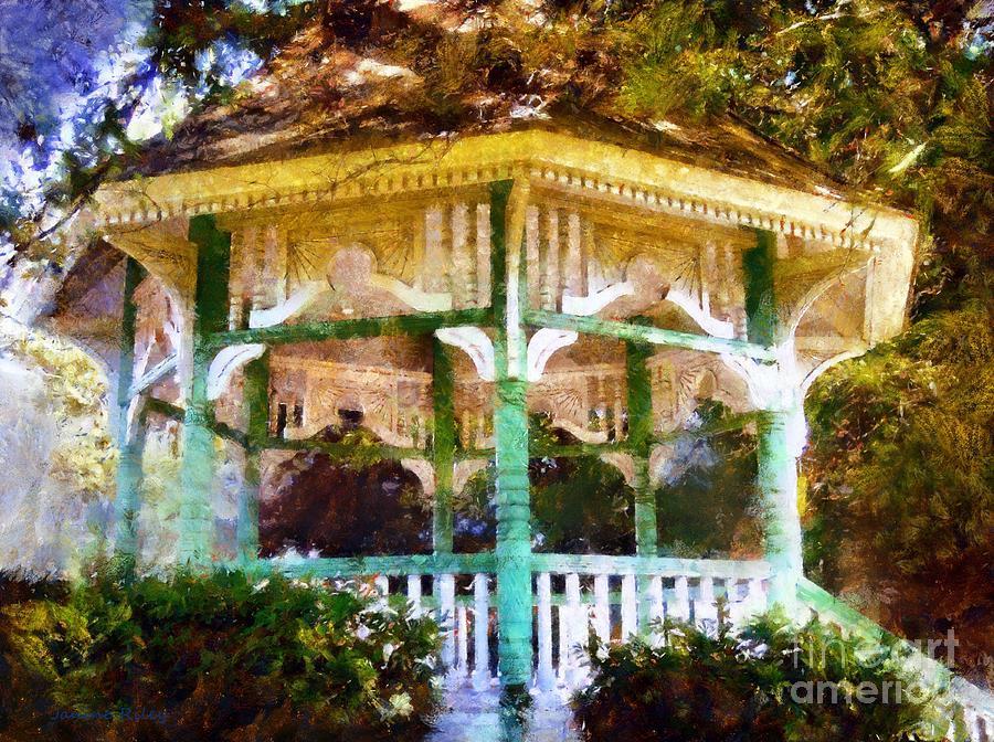 Gazebo Photograph - Owego Gazebo Courthouse Square Park by Janine Riley
