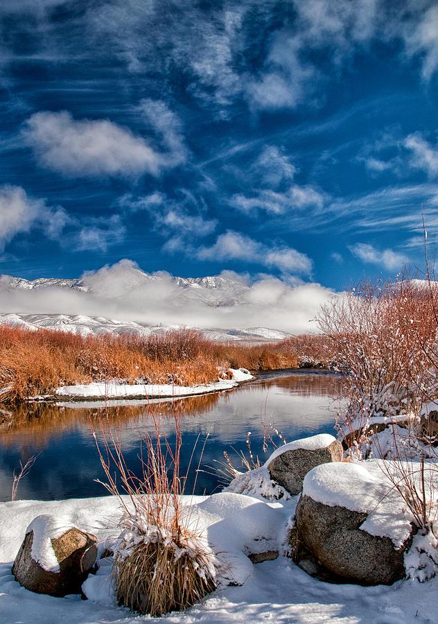 Rocks Photograph - Owens River Cloudscapes by Cat Connor