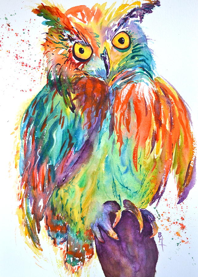 Owl Painting - Owl Be Seeing You by Beverley Harper Tinsley