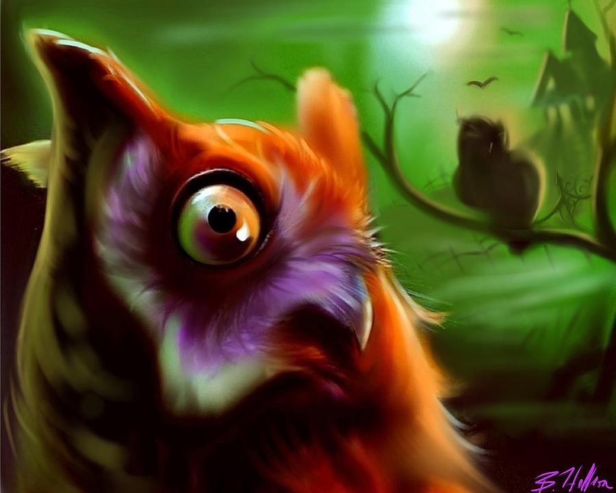 Owl Digital Art - Owl by Brandon Heffron