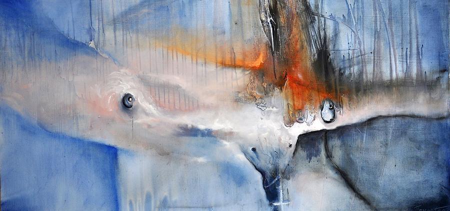 Owl Painting - owl by David Figielek