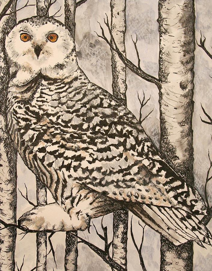 Warhol Painting - Owl by Monica Warhol