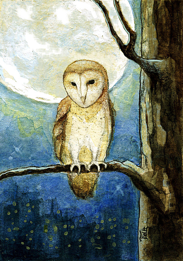 Owl Moon Painting by Terry Webb Harshman